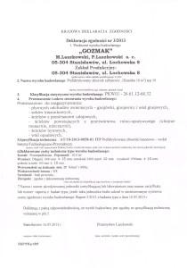 deklaracja szamba betonowego lublin