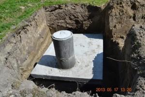 szamba betonowe szczytno podczas montażu